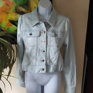 Kate Spade light wash denim Jean jacket cropped